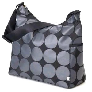 OiOi Australia Grey Dot Hobo Diaper Bag